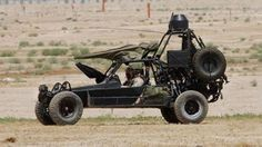 Desert Patrol Vehicle: The DPV is basically a Volkswagen-powered dune buggy with guns. What's not to love? Oh, yeah, Navy SEALs kick ass in these, too. Built by Chenowth Racing Products, which has previously constructed Class 1 Baja buggies, the DPV will go 80 mph with two soldiers strapped into its buckets. There are newer buggy-type attack vehicles, but this is the original.