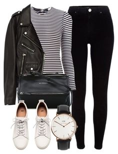 """Untitled #6291"" by laurenmboot ❤ liked on Polyvore featuring River Island, Fleur du Mal, Jakke, Givenchy, H&M and Daniel Wellington"