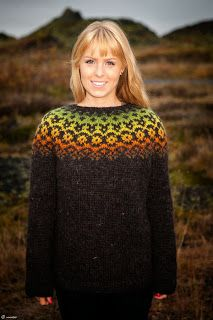 Icelandic Lopi Sweater Autumn leaves by unneva on Etsy Nordic Pullover, Nordic Sweater, Fair Isle Pullover, Pullover Mode, Fair Isle Knitting Patterns, Knitting Designs, Icelandic Sweaters, Wool Sweaters, Sweater Design