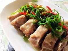 蔥油雞(電鍋) Chinese Food, Tuna, Pork, Fish, Traditional Chinese, Meat, Favorite Recipes, Kale Stir Fry, Pisces