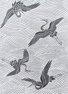 Chinese Patterns, Japanese Patterns, Japanese Design, Japanese Art, Textures Patterns, Print Patterns, Art Asiatique, Ink Illustrations, Chinese Art