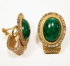 Vintage Oversize Men's Green Peking Glass by GretelsTreasures