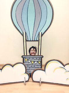 Декор на годовасие с картонным воздушным шаром / Cardboard big air balloon on Birthday party