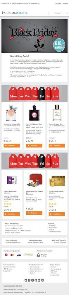 Parfumswinkel.nl - Actuele actiemailing door in te spelen op Black Friday