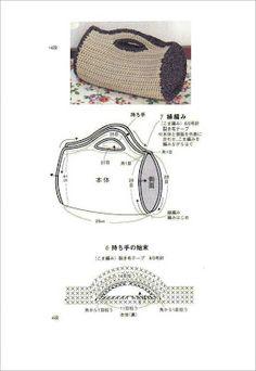 Patrones Crochet: Patron Crochet Bolso Cilindrico