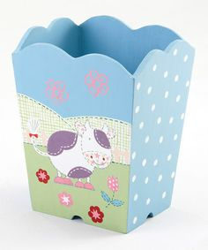 Take a look at this MooCow Waste Bin by Kindergarten Plus on #zulily today!