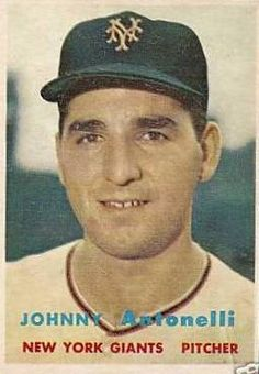 Verzamelkaarten, ruilkaarten 1954 Bowman #208 Johnny Antonelli New York Giants Baseball Card