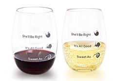Unbreakable Stemless Tritan Plastic Wine Glasses Set of 416oz Shatterproof Dishwasher Safe BPA Free  Fun and Unique Design by Kiwi Wine Innovations * Click on the image for additional details.