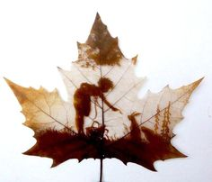 I wish I could do this...  pressed Phoenix leaf sculpture,unique leaf