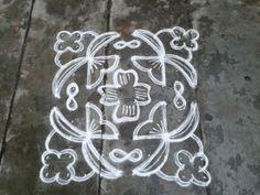 Rangoli designs/Kolam: [S.No 10 Pulli 10 Varisai Flower Kolam Rangoli Designs Flower, Rangoli Designs With Dots, Rangoli With Dots, Beautiful Rangoli Designs, Kolam Designs, Simple Rangoli, Free Hand Rangoli Design, Small Rangoli Design, Muggulu Dots