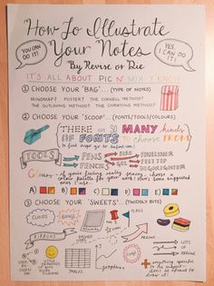organizedminimalist : How to Illustrate your Notes
