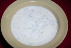 Joghurtos salátaöntet   NOSALTY Cheeseburger Chowder, Pesto, Dairy, Soup, Cooking Recipes, Foods, Drinks, Vegane Rezepte, Drinking