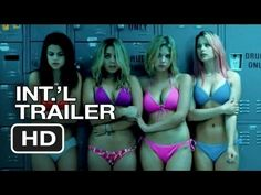 Subscribe to TRAILERS:http://bit.ly/sxaw6h  Subscribe to COMING SOON:http://bit.ly/H2vZUn  Like us on FACEBOOK:http://awe.sm/mCSHY  The Spring Breakers Official International Trailer #1 (2013) - James Franco Movie HD      Four college girls who land in jail after robbing a restaurant in order to fund their spring break vacation find themselves bail...