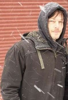 Baby it's cold outside. Come here Norman.  I'll keep you warm.