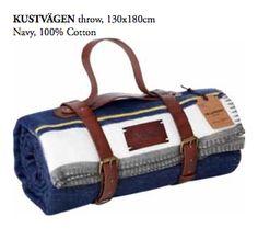 Kustvagen throw, 100% cotton by www.pellevavare.se