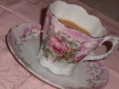 Vintage German rose teacup