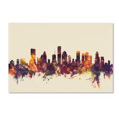 Michael Tompsett 'Houston Texas Skyline' Canvas Art