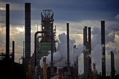 An evening view of the Exxon Mobil oil refinery and petrochemical complex in Baton Rouge, La. Environmental Justice-NPR