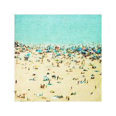 beach summer fun - 8 x 8 print on matte paper : papernstitch : hand-picked. handmade. : a community showcasing the best in art, handmade, and vintage ($20) found on Polyvore