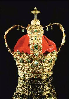 """Crown of the Andes,"" was completed after six years in 1599 and is made of gold and 453 Colombian emeralds"