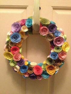 Paper Flower Wreath by alyshahan on Etsy, $45.00