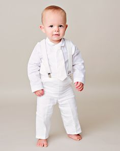 Baptism Clothes For Baby Boy Cool Baby Boys 4 Piece Christening Outfit  Christening Suit White Check Decorating Inspiration