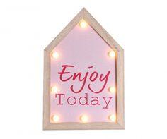 Enjoy Today Világító fali dekoráció