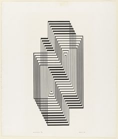 Josef Albers. Ascension from the series Graphic Tectonic. 1942