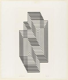 Josef Albers, Ascension, Graphic Tectonic, 1942