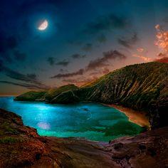 Days In The Magic Hour / Satoshi Matsuyama  #Satoshi Matsuyama #Hawaii #art #Landscape