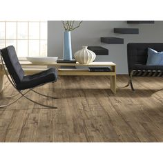"Shaw Floors Northampton 6"" x 48"" Luxury Vinyl Plank in Shelton Pecan"