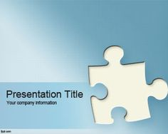 Free puzzle PowerPoint template for games and presentations