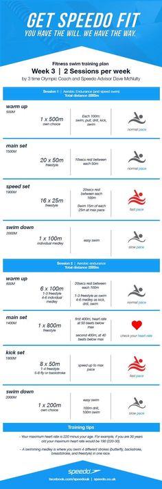 Dave McNulty Swim Fitness Training Plan - Week 3
