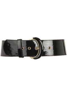 Dorothy Perkins Black buckle waist belt Black covered buckle waist belt. 100% Polyurethane. http://www.comparestoreprices.co.uk/womens-accessories/dorothy-perkins-black-buckle-waist-belt.asp