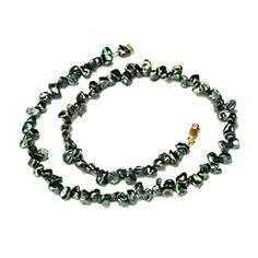 47cm 11mm echte Süßwasser Perlen Schmuck Perlenketten Echtschmuck Ketten Collier