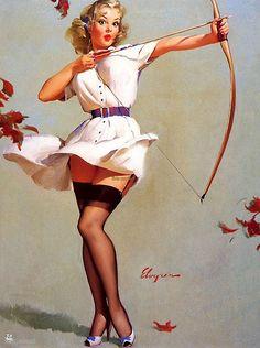 Elvgren - archery