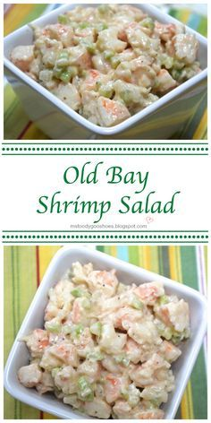 OLD BAY SHRIMP SALAD Recipe adapted from Southern Living 1 pound cooked shrimp, chopped cup finely diced celery cup finely diced onion cup mayonnaise 2 tbsp lemon juice tsp old bay seasoning tsp worcestershire sauce tsp black pe Sea Food Salad Recipes, Fish Recipes, Seafood Recipes, Cooking Recipes, Healthy Recipes, Cold Shrimp Salad Recipes, Shrimp And Crab Salad, Shrimp Pasta Salads, Macaroni Salad With Shrimp