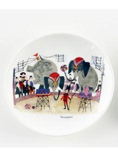 "By MIMI'S CIRCUS: Circus Tableware - 1 x plate ""Arena"" (ceramics)"