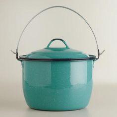 Medium Turquoise Enamel Stockpot