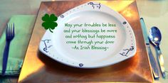 St. Patrick's Day 2014 Line Design, Design Art, Irish Blessing, Z Arts, Beautiful Lines, Design Inspiration, Hand Painted, Tableware, Dinnerware