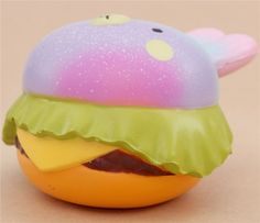 Vlampo cute galaxy rabbit burger scented squishy