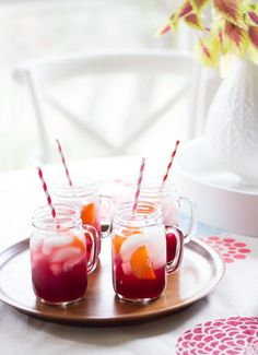 Pomegranate Orange Spritzers - so refreshing and only 3 ingredients!