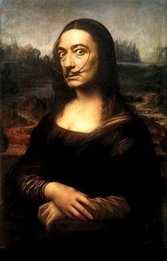 Salvador Dali as Mona Lisa, pop art.