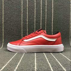 3168cf4c910c47 Vans Old Skool Leather Red True White VN018GGKP 700053803756  600018528500001 Skate Shoe amazon Recommend Vans For Sale  Vans
