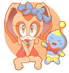 Cream the Rabbit and Cheese Chao by SiIent-AngeI on DeviantArt