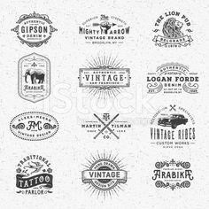 Vintage Badges, Labels and Frames royalty-free stock vector art