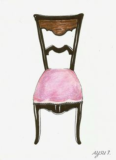 illustration by me: this is not a chair by lavalsed'amelie, via Flickr #chair #illustration