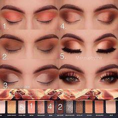 make up tutorial Makeup Eye Looks, Eye Makeup Steps, Smokey Eye Makeup, Cute Makeup, Simple Makeup, Skin Makeup, Eyeshadow Makeup, Prom Makeup, 80s Makeup