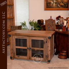 Rustic Custom Office Cabinet: Complete Matching Desk Sets - handmade in the USA by master craftsmen from the finest quality natural materials Art Furniture, Furniture Deals, Custom Furniture, Furniture Design, Solid Wood Cabinets, Custom Cabinets, Rustic Office, Starter Home, Office Set