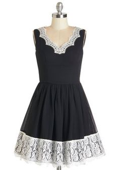Crafting Cocktails Dress. From aperitifs to whiskies, you and your friends are spending the evening layering tastes, which youre sipping in this black fit-and-flare dress by Chi Chi London! #black #modcloth
